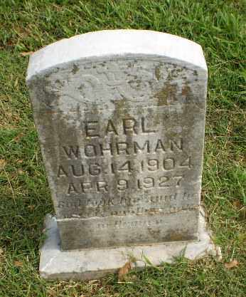 WOHRMAN, EARL - Greene County, Arkansas | EARL WOHRMAN - Arkansas Gravestone Photos