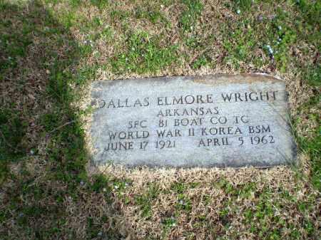 WRIGHT  (VETERAN 2 WARS), DALLAS ELMORE - Greene County, Arkansas | DALLAS ELMORE WRIGHT  (VETERAN 2 WARS) - Arkansas Gravestone Photos