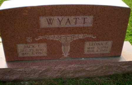 WYATT, LEONA  F - Greene County, Arkansas   LEONA  F WYATT - Arkansas Gravestone Photos