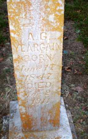 YEARGAIN, A.G. - Greene County, Arkansas | A.G. YEARGAIN - Arkansas Gravestone Photos