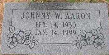 AARON, JOHNNY W - Hempstead County, Arkansas | JOHNNY W AARON - Arkansas Gravestone Photos