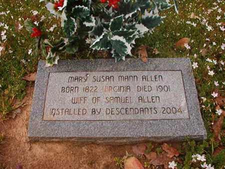 MANN ALLEN, MARY SUSAN - Hempstead County, Arkansas | MARY SUSAN MANN ALLEN - Arkansas Gravestone Photos