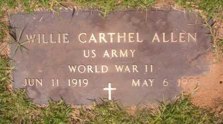 ALLEN (VETERAN WWII), WILLIE CARTHEL - Hempstead County, Arkansas | WILLIE CARTHEL ALLEN (VETERAN WWII) - Arkansas Gravestone Photos