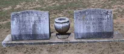 ANDERSON, MARTHA - Hempstead County, Arkansas | MARTHA ANDERSON - Arkansas Gravestone Photos