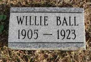 BALL, WILLIE - Hempstead County, Arkansas   WILLIE BALL - Arkansas Gravestone Photos