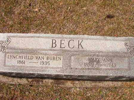 BECK, LYNCHFIELD VAN BUREN - Hempstead County, Arkansas | LYNCHFIELD VAN BUREN BECK - Arkansas Gravestone Photos