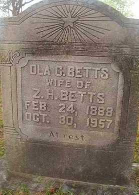 BETTS, OLA C - Hempstead County, Arkansas | OLA C BETTS - Arkansas Gravestone Photos