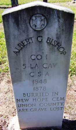 BISHOP (VETERAN CSA), ALBERT G - Hempstead County, Arkansas   ALBERT G BISHOP (VETERAN CSA) - Arkansas Gravestone Photos
