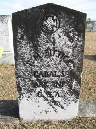 BITTICK  (VETERAN CSA), P. M. - Hempstead County, Arkansas | P. M. BITTICK  (VETERAN CSA) - Arkansas Gravestone Photos