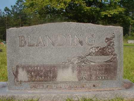 BLANDING, ROSCOE IRVIN - Hempstead County, Arkansas   ROSCOE IRVIN BLANDING - Arkansas Gravestone Photos