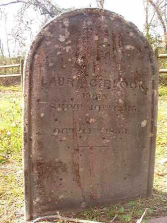 BLOCK, LAURA C - Hempstead County, Arkansas | LAURA C BLOCK - Arkansas Gravestone Photos
