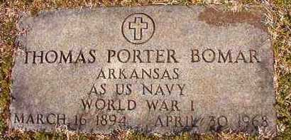 BOMAR (VETERAN WWI), THOMAS PORTER - Hempstead County, Arkansas | THOMAS PORTER BOMAR (VETERAN WWI) - Arkansas Gravestone Photos