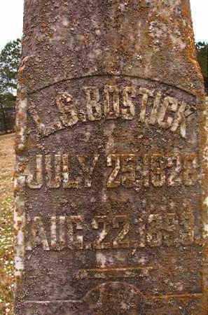 BOSTICK, L S (CLOSE UP) - Hempstead County, Arkansas | L S (CLOSE UP) BOSTICK - Arkansas Gravestone Photos