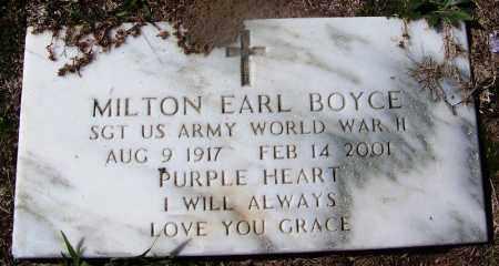 BOYCE (VETERAN WWII), MILTON EARL - Hempstead County, Arkansas | MILTON EARL BOYCE (VETERAN WWII) - Arkansas Gravestone Photos