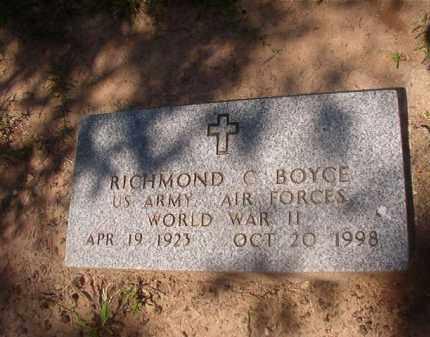 BOYCE (VETERAN WWII), RICHMOND C - Hempstead County, Arkansas   RICHMOND C BOYCE (VETERAN WWII) - Arkansas Gravestone Photos
