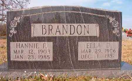 BRANDON, HANNIE F - Hempstead County, Arkansas | HANNIE F BRANDON - Arkansas Gravestone Photos