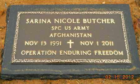 BUTCHER (VETERAN 2 WARS KIA), SARINA NICOLE - Hempstead County, Arkansas   SARINA NICOLE BUTCHER (VETERAN 2 WARS KIA) - Arkansas Gravestone Photos