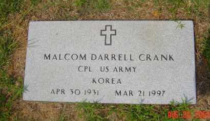 CRANK (VETERAN KOR), MALCOM DARRELL - Hempstead County, Arkansas   MALCOM DARRELL CRANK (VETERAN KOR) - Arkansas Gravestone Photos