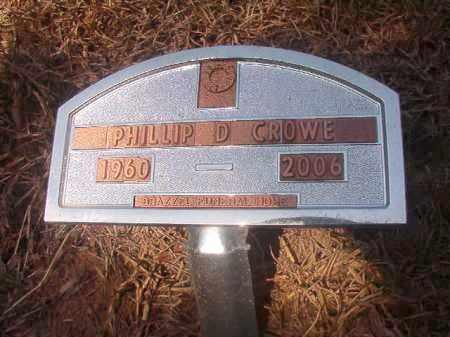 CROWE, PHILLIP D - Hempstead County, Arkansas | PHILLIP D CROWE - Arkansas Gravestone Photos