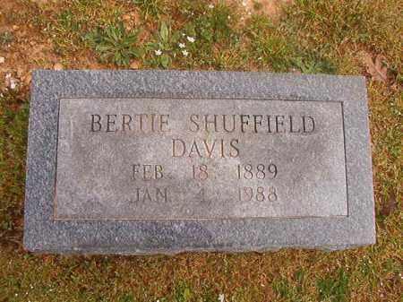 SHUFFIELD DAVIS, BERTIE - Hempstead County, Arkansas | BERTIE SHUFFIELD DAVIS - Arkansas Gravestone Photos