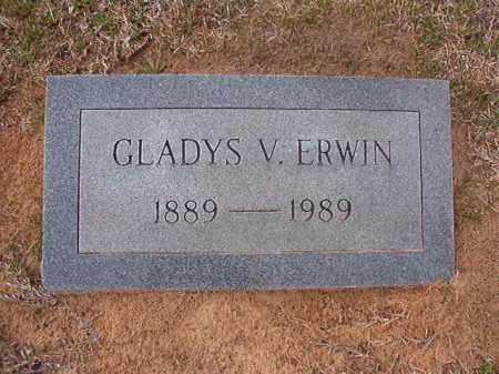 ERWIN, GLADYS V - Hempstead County, Arkansas   GLADYS V ERWIN - Arkansas Gravestone Photos