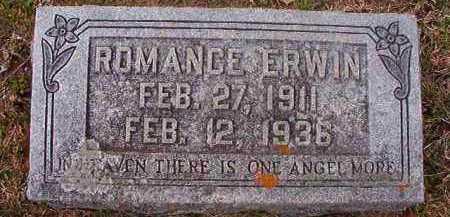 ERWIN, ROMANCE - Hempstead County, Arkansas | ROMANCE ERWIN - Arkansas Gravestone Photos