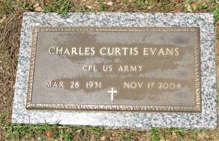 EVANS (VETERAN), CHARLES CURTIS - Hempstead County, Arkansas | CHARLES CURTIS EVANS (VETERAN) - Arkansas Gravestone Photos