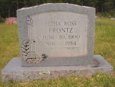 FRONTZ, LETHA - Hempstead County, Arkansas | LETHA FRONTZ - Arkansas Gravestone Photos