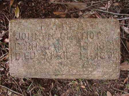 GRATIOT, JOHN R - Hempstead County, Arkansas | JOHN R GRATIOT - Arkansas Gravestone Photos