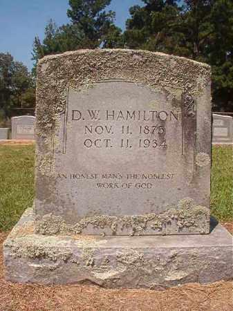 HAMILTON, D W - Hempstead County, Arkansas   D W HAMILTON - Arkansas Gravestone Photos
