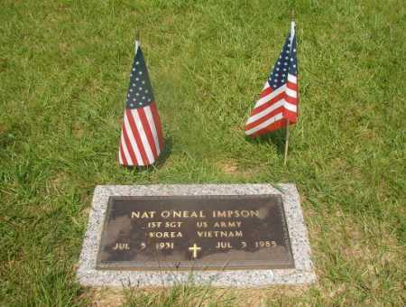 IMPSON (VETERAN 2 WARS), NAT O'NEAL - Hempstead County, Arkansas | NAT O'NEAL IMPSON (VETERAN 2 WARS) - Arkansas Gravestone Photos