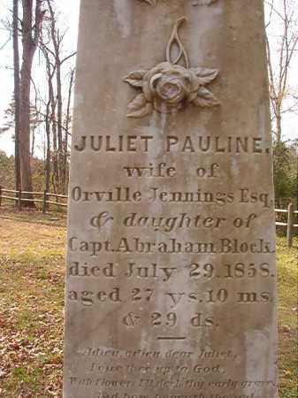 BLOCK JENNINGS, JULIET PAULINE (CLOSEUP) - Hempstead County, Arkansas   JULIET PAULINE (CLOSEUP) BLOCK JENNINGS - Arkansas Gravestone Photos