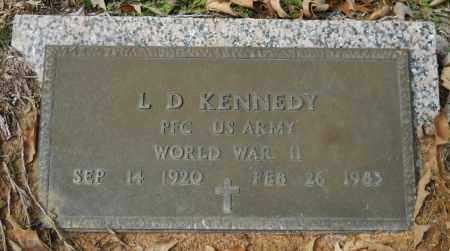 KENNEDY (VETERAN WWII), L D - Hempstead County, Arkansas | L D KENNEDY (VETERAN WWII) - Arkansas Gravestone Photos