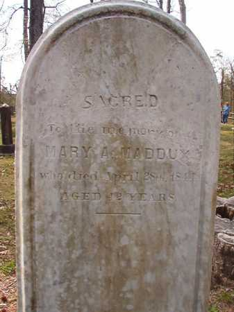 MADDUX, MARY A - Hempstead County, Arkansas | MARY A MADDUX - Arkansas Gravestone Photos