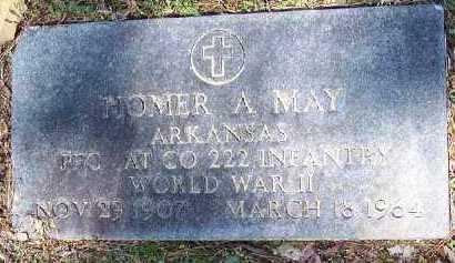 MAY (VETERAN WWII), HOMER A - Hempstead County, Arkansas | HOMER A MAY (VETERAN WWII) - Arkansas Gravestone Photos
