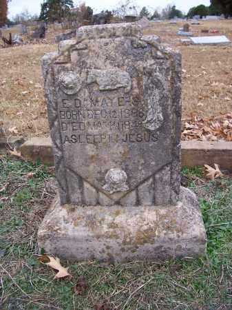 MAYERS, E D - Hempstead County, Arkansas   E D MAYERS - Arkansas Gravestone Photos