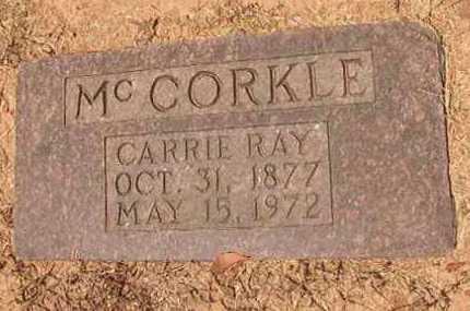 MCCORKLE, CARRIE RAY - Hempstead County, Arkansas   CARRIE RAY MCCORKLE - Arkansas Gravestone Photos