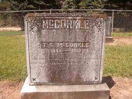 MCCORKLE, T S - Hempstead County, Arkansas | T S MCCORKLE - Arkansas Gravestone Photos