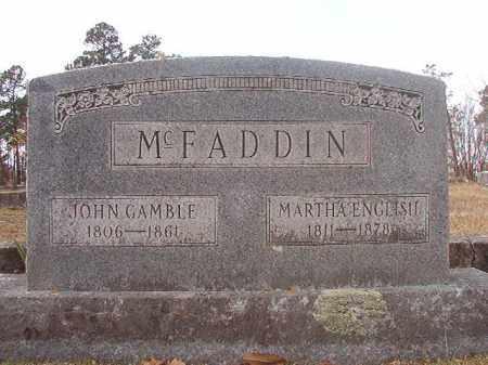 MCFADDIN, JOHN GAMBLE - Hempstead County, Arkansas | JOHN GAMBLE MCFADDIN - Arkansas Gravestone Photos