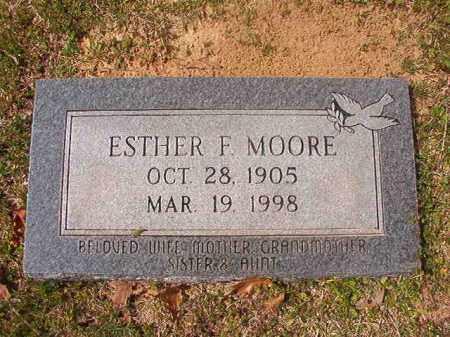 MOORE, ESTHER F - Hempstead County, Arkansas | ESTHER F MOORE - Arkansas Gravestone Photos