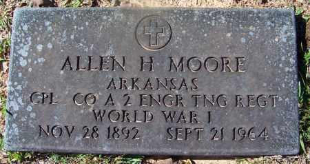 MOORE (VETERAN WWI), ALLEN H - Hempstead County, Arkansas | ALLEN H MOORE (VETERAN WWI) - Arkansas Gravestone Photos