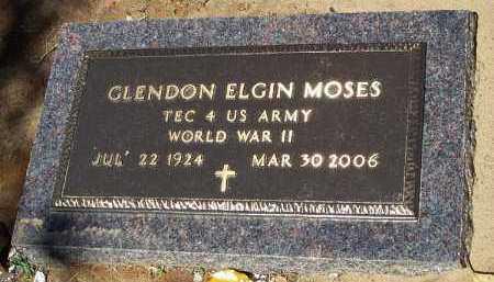MOSES (VETERAN WWII), GLENDON ELGIN - Hempstead County, Arkansas   GLENDON ELGIN MOSES (VETERAN WWII) - Arkansas Gravestone Photos