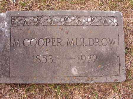 MULDROW, M (CLOSEUP) - Hempstead County, Arkansas | M (CLOSEUP) MULDROW - Arkansas Gravestone Photos