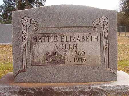 NOLEN, MATTIE ELIZABETH - Hempstead County, Arkansas   MATTIE ELIZABETH NOLEN - Arkansas Gravestone Photos