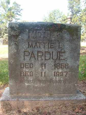 PARDUE, MATTIE L - Hempstead County, Arkansas | MATTIE L PARDUE - Arkansas Gravestone Photos