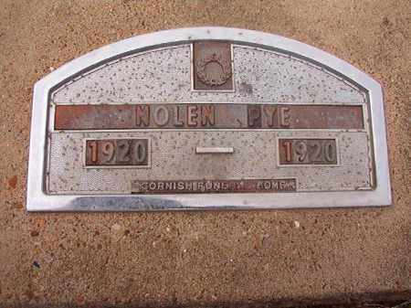 PYE, NOLEN - Hempstead County, Arkansas   NOLEN PYE - Arkansas Gravestone Photos