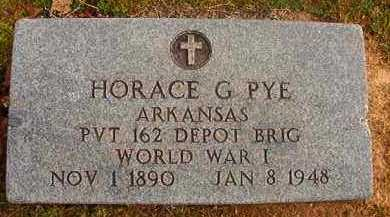 PYE (VETERAN WWI), HORACE G - Hempstead County, Arkansas | HORACE G PYE (VETERAN WWI) - Arkansas Gravestone Photos