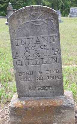 QUILLIN, INFANT SON - Hempstead County, Arkansas   INFANT SON QUILLIN - Arkansas Gravestone Photos