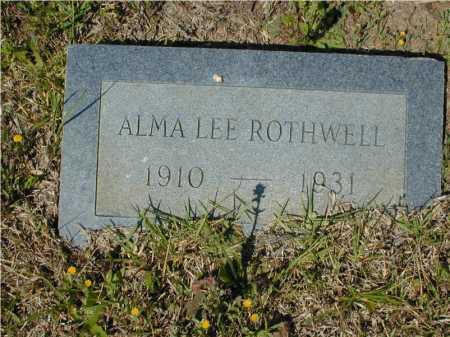 ROTHWELL, ALMA LEE - Hempstead County, Arkansas   ALMA LEE ROTHWELL - Arkansas Gravestone Photos