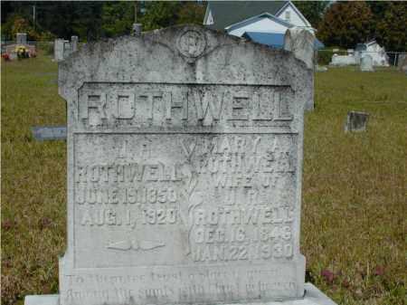 ROTHWELL, MARY ANN - Hempstead County, Arkansas   MARY ANN ROTHWELL - Arkansas Gravestone Photos